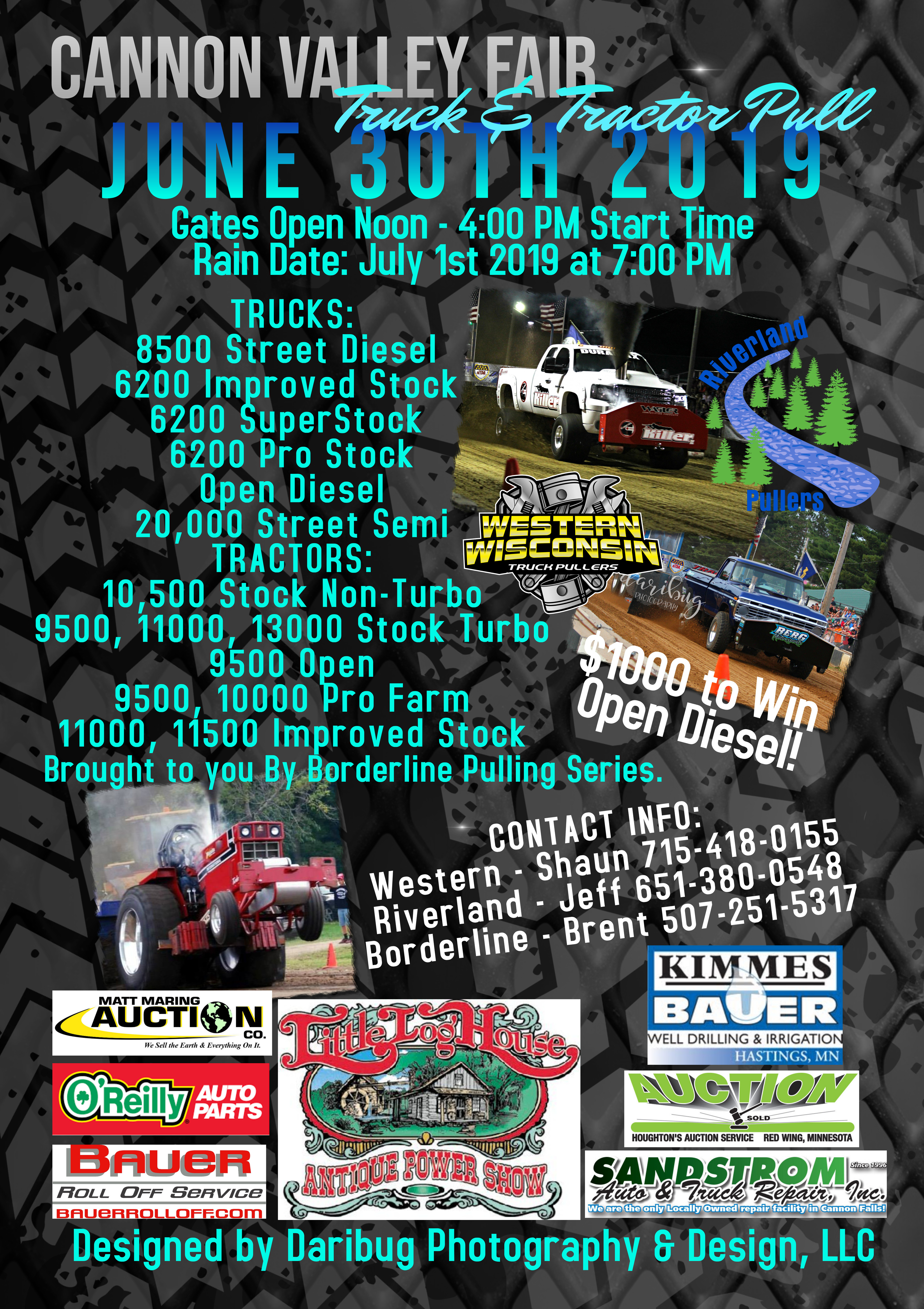 Truck and Tractor Pull – Cannon Valley Fair
